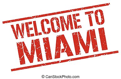 welcome to Miami stamp