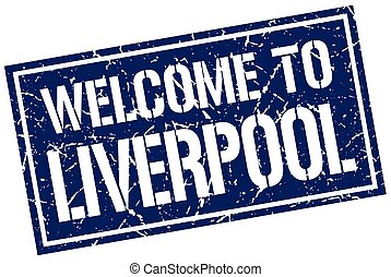 welcome to Liverpool stamp