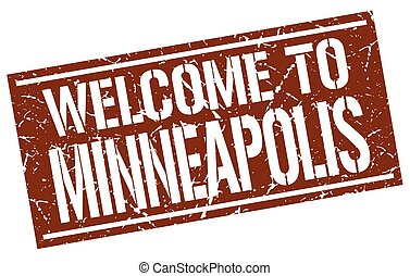welcome to Minneapolis stamp