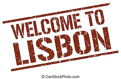 welcome to Lisbon stamp