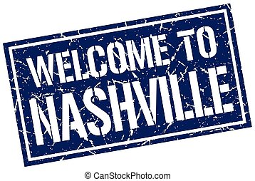 welcome to Nashville stamp