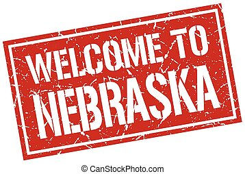 welcome to Nebraska stamp