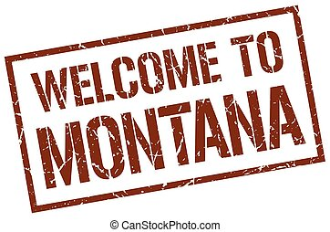 welcome to Montana stamp