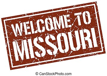 welcome to Missouri stamp