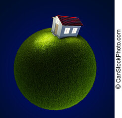 house on a small green planet