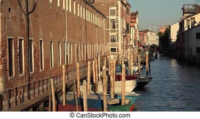 Boats In Venice Canal