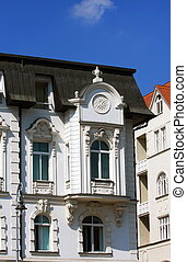 White historical house in Brno, Czech republic