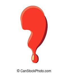 Comma punctuation mark isolated, white background - Comma...