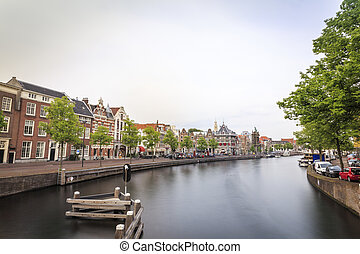 Haarlem by the canal, The Netherlands - Cute city of Haarlem...