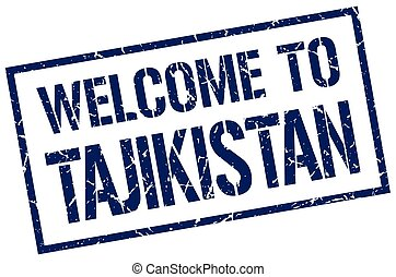 welcome to Tajikistan stamp