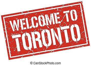 welcome to Toronto stamp