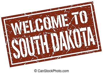 welcome to South Dakota stamp