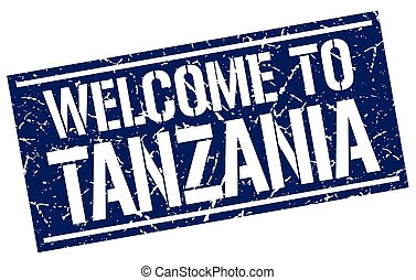 welcome to Tanzania stamp