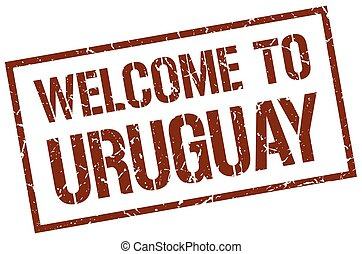 welcome to Uruguay stamp