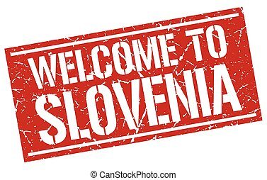 welcome to Slovenia stamp