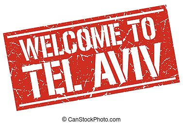 welcome to Tel Aviv stamp