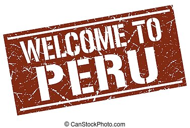 welcome to Peru stamp