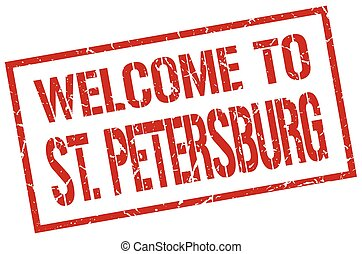 welcome to St. Petersburg stamp