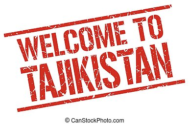 welcome to Tajikistan stamp