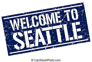 welcome to Seattle stamp