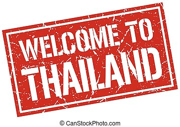 welcome to Thailand stamp