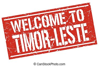 welcome to Timor-Leste stamp