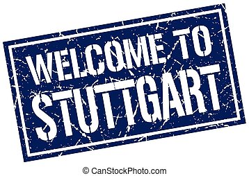 welcome to Stuttgart stamp