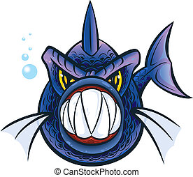 Piranha - Vector illustration of a piranha