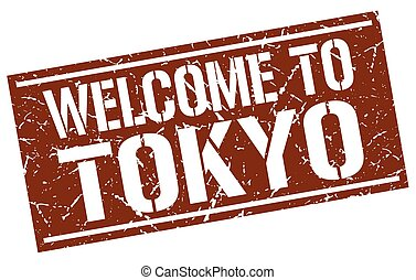 welcome to Tokyo stamp