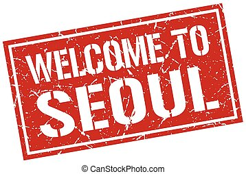 welcome to Seoul stamp