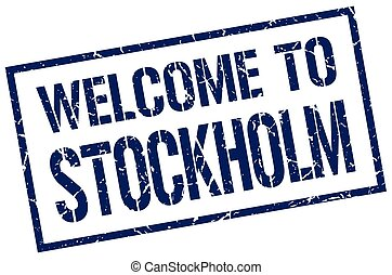 welcome to Stockholm stamp