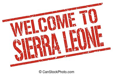 welcome to Sierra Leone stamp