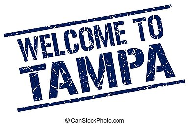 welcome to Tampa stamp