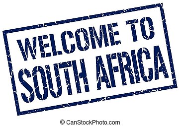 welcome to South Africa stamp