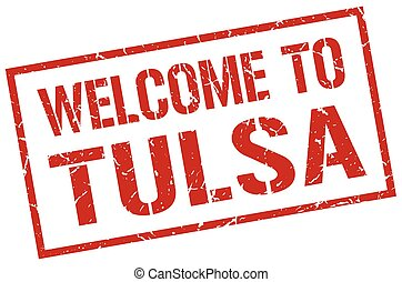 welcome to Tulsa stamp