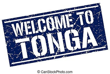 welcome to Tonga stamp