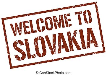welcome to Slovakia stamp