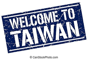 welcome to Taiwan stamp