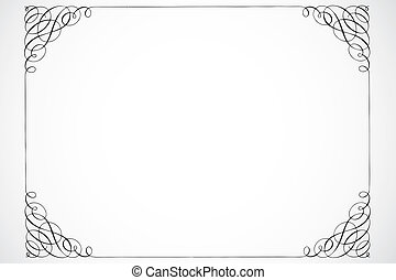 Vector Decorative Frame - Detailed vector decoration. Great...
