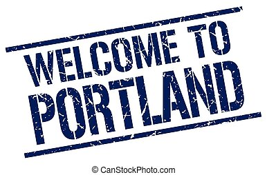 welcome to Portland stamp