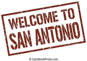 welcome to San Antonio stamp