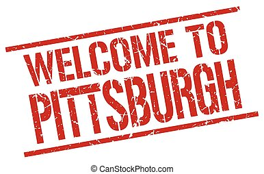 welcome to Pittsburgh stamp
