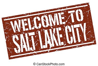 welcome to Salt Lake City stamp