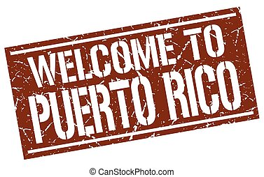 welcome to Puerto Rico stamp