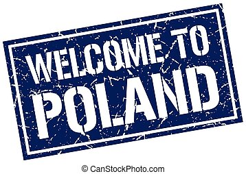 welcome to Poland stamp