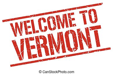 welcome to Vermont stamp