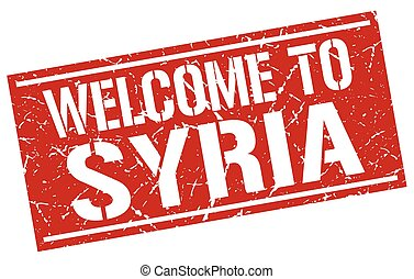 welcome to Syria stamp