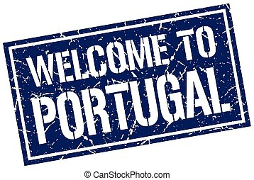 welcome to Portugal stamp