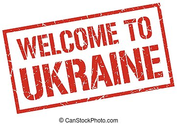 welcome to Ukraine stamp