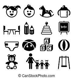 Kindergarten, nursery, preschool - Babies and kids in creche...